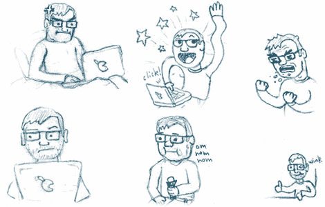 Some faces from my hourly comic